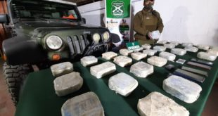 OPERATIVO ANTIDROGAS PERMITE DECOMISO DE 31 KILOS DE PASTA BASE DE COCAINA